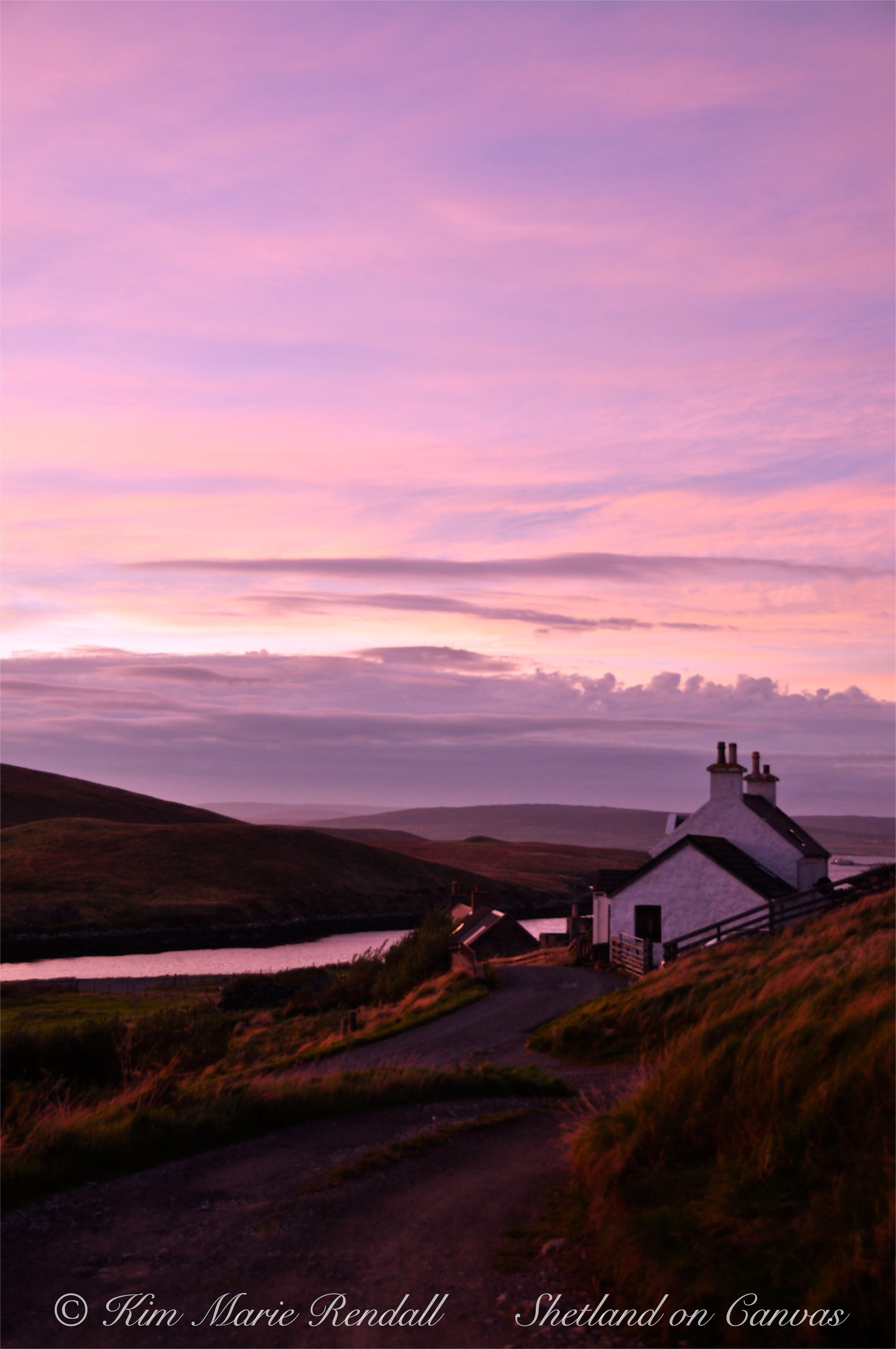 Purple Sunset over the Upper Quoy, Billister