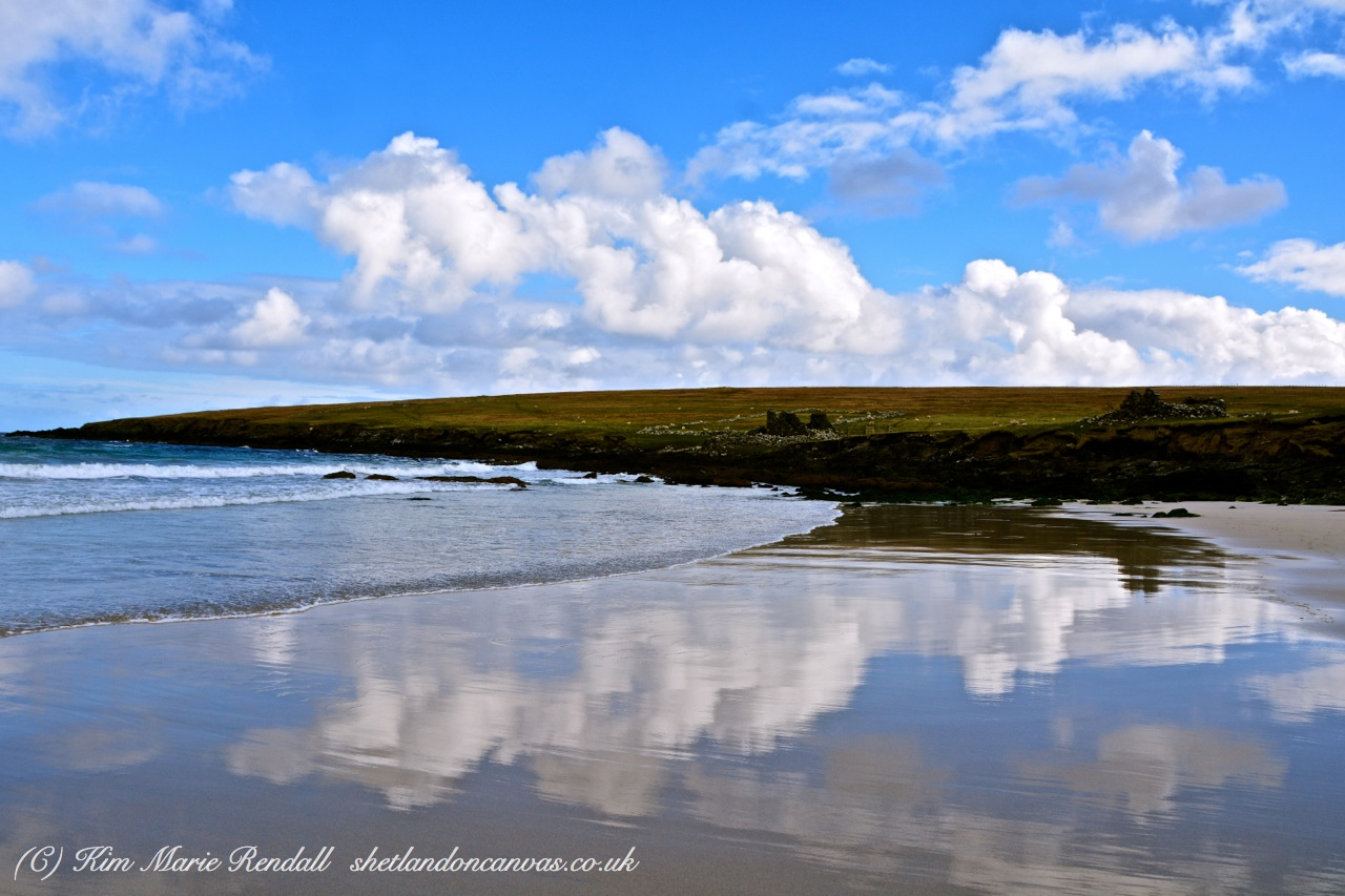 Cloud Reflections at Easting, Unst
