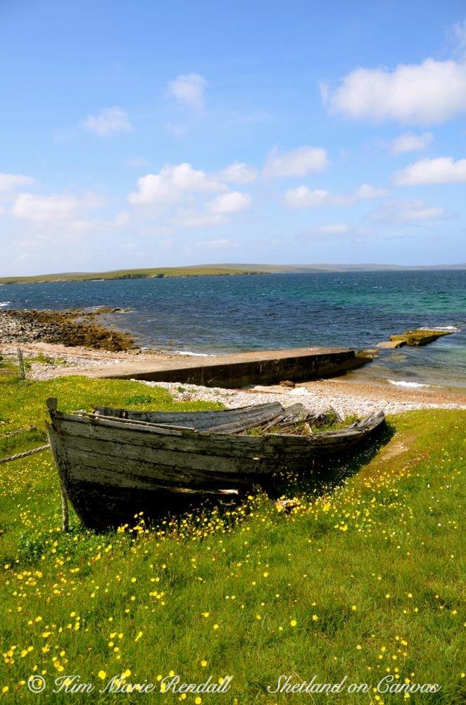 Auld Sixareen at Brough, Fetlar