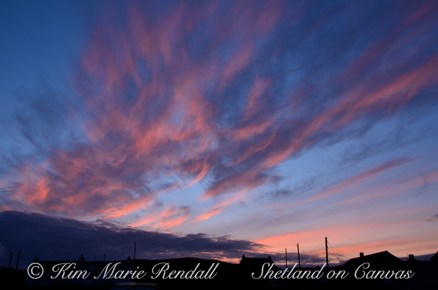 Sunset Clouds at Laxfirth, North Nesting