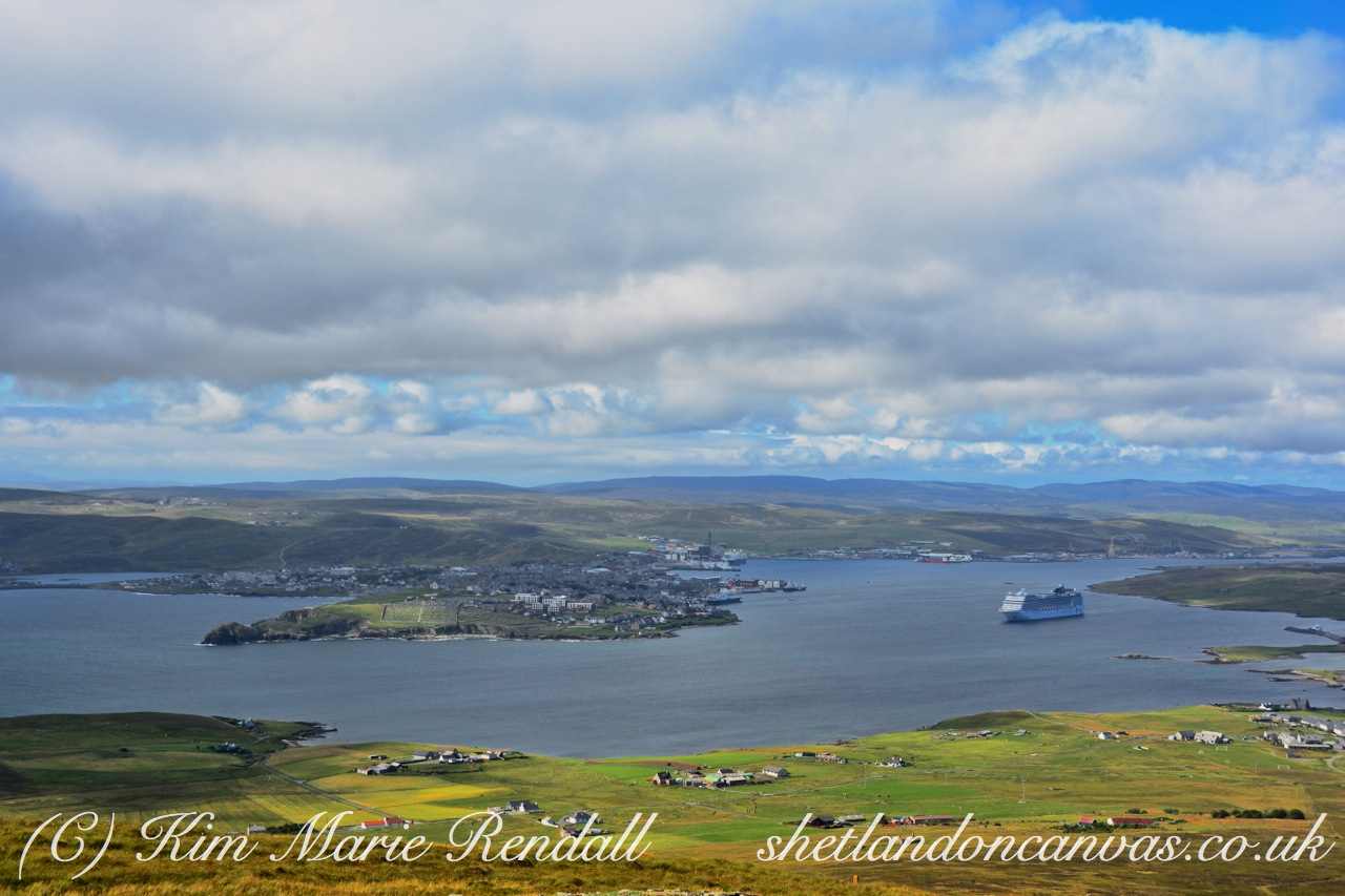 A View of Lerwick from Bressay Mast