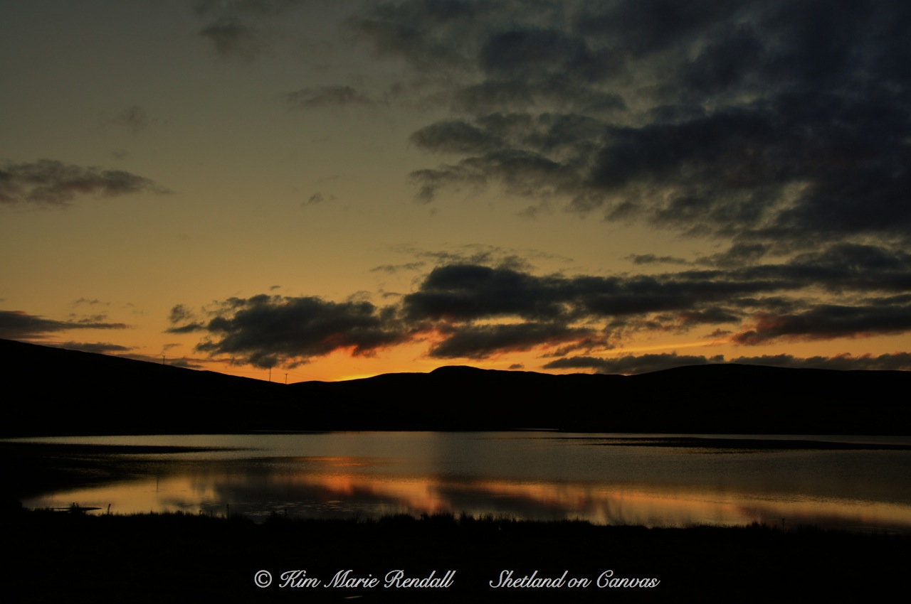 Sunset at Loch of Voe