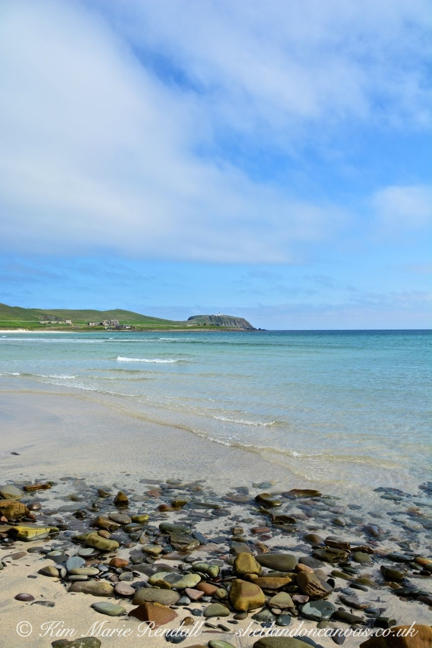 West Voe Beach and Sumburgh Head