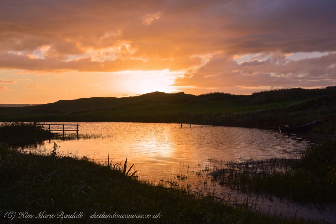 Sunset at Benson Loch, South Nesting