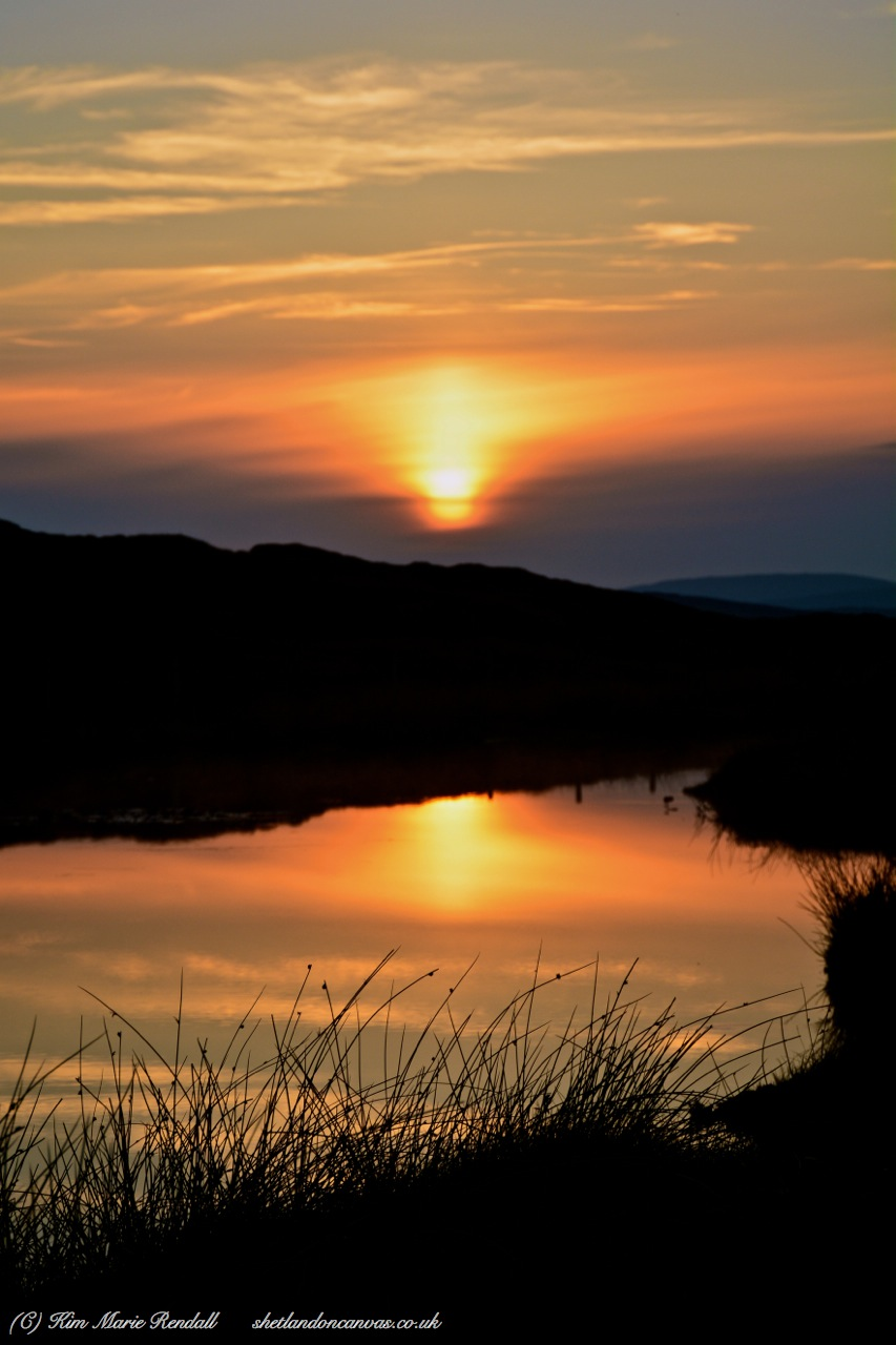 Sunset over Bellister Loch, North Nesting (2)