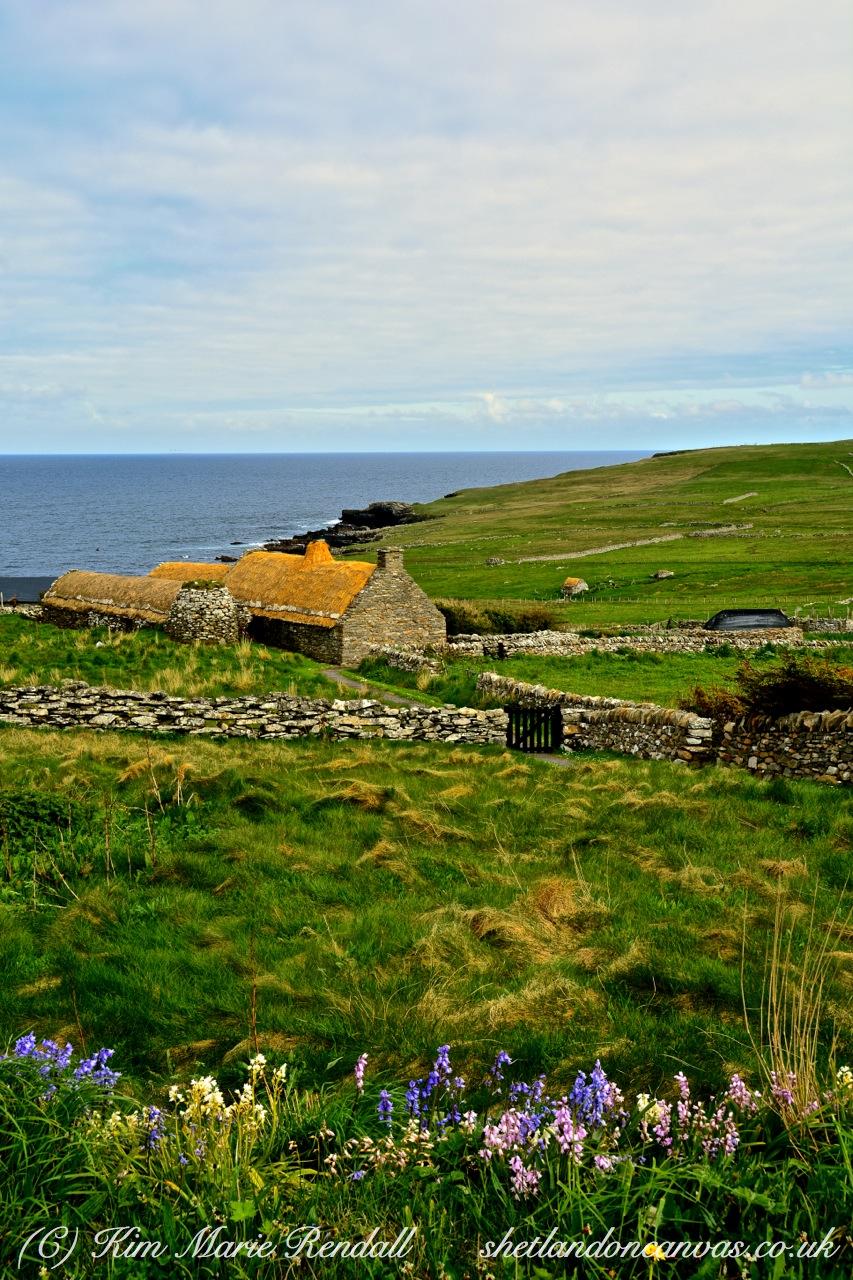Beatiful Day at Shetland Croft House Museum