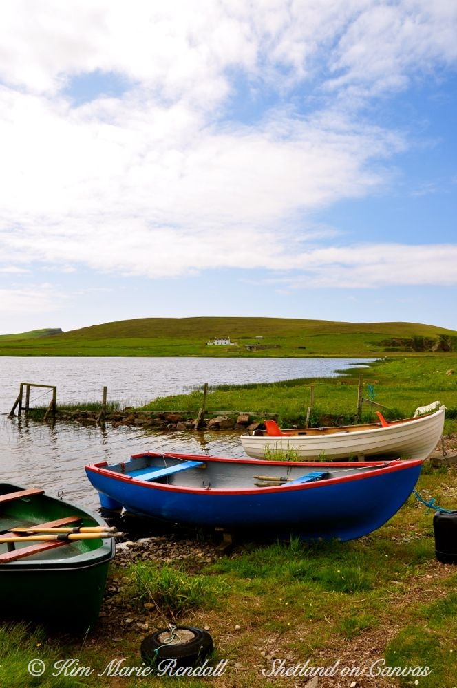 Boats at Spiggie Loch