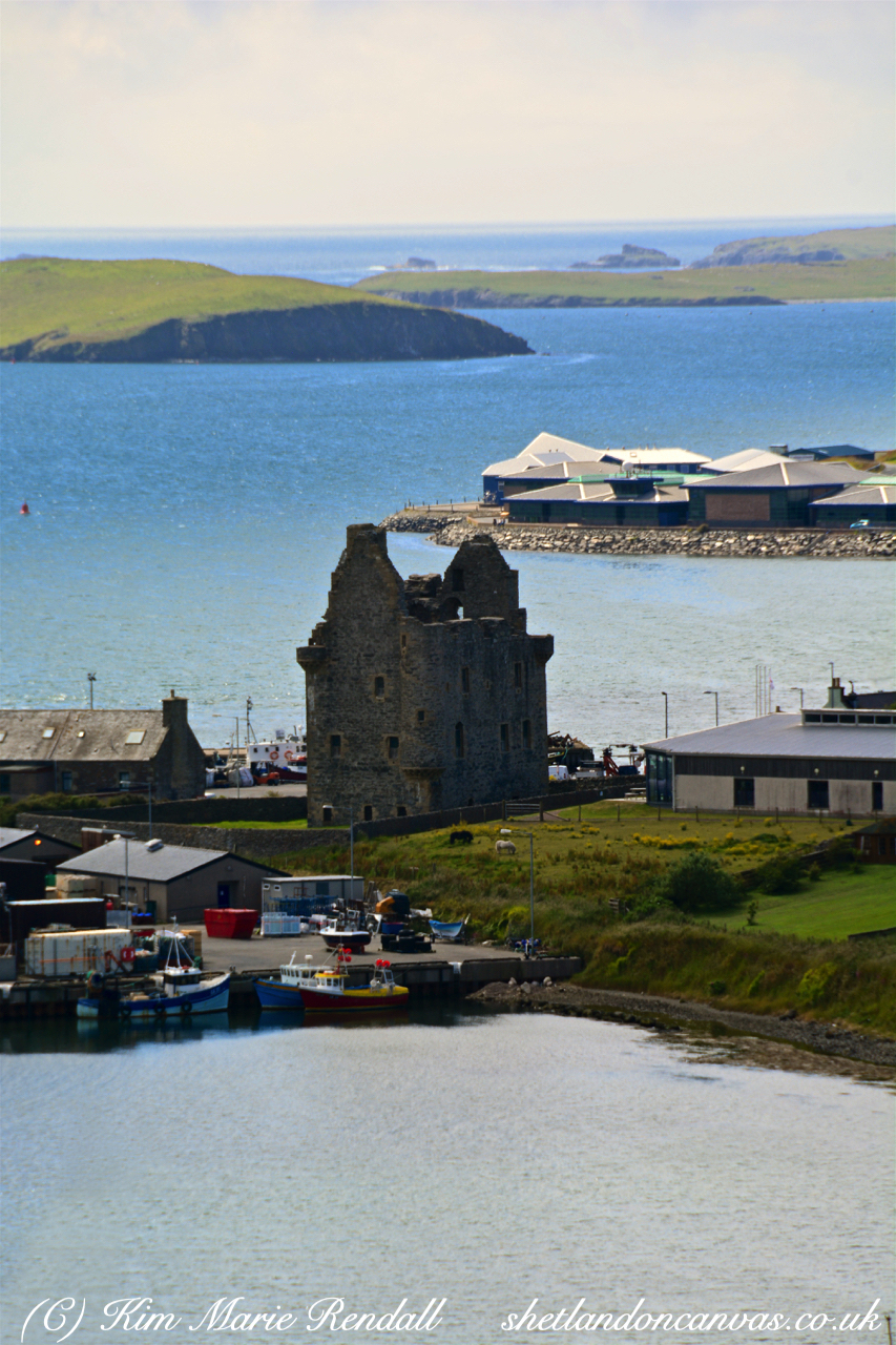 View of Scalloway Castle