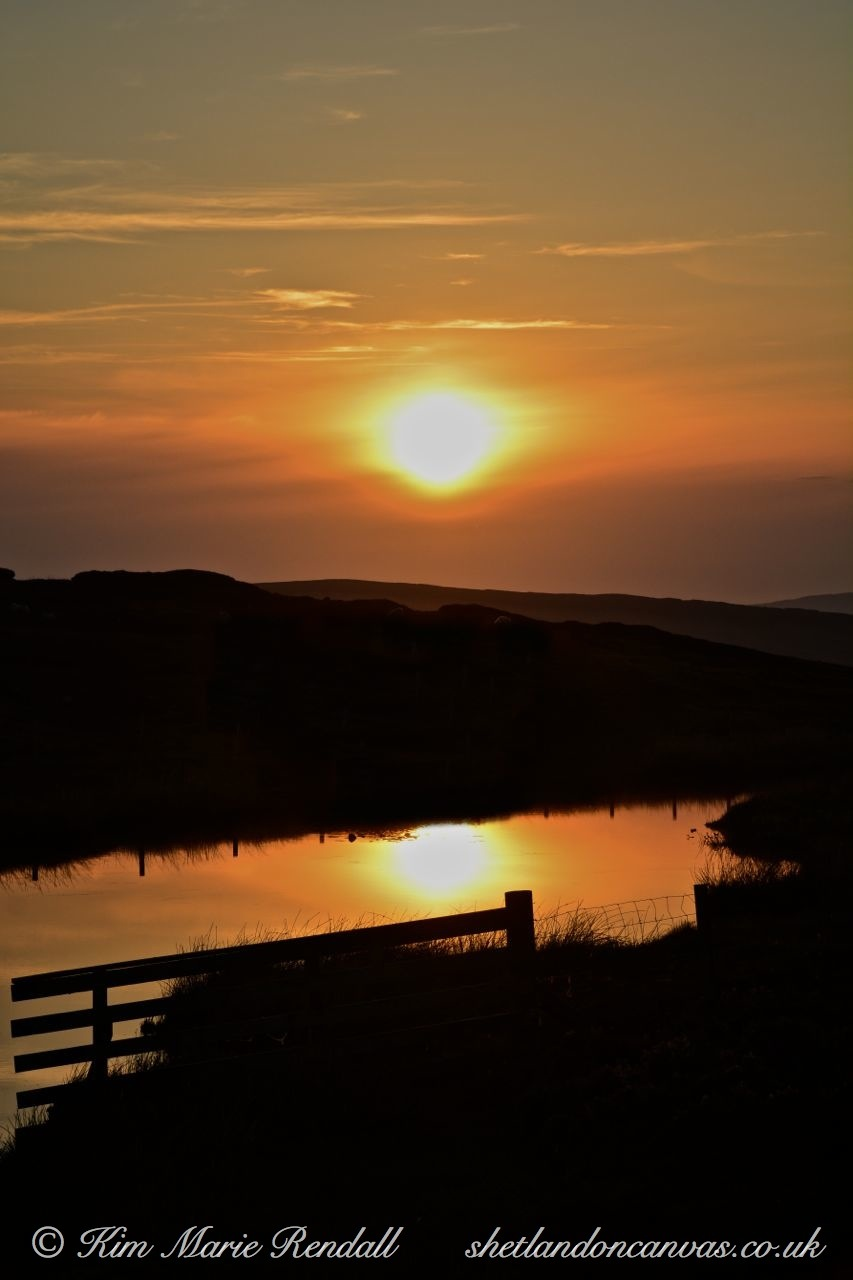 Sunset over Bellister Loch, North Nesting (1)