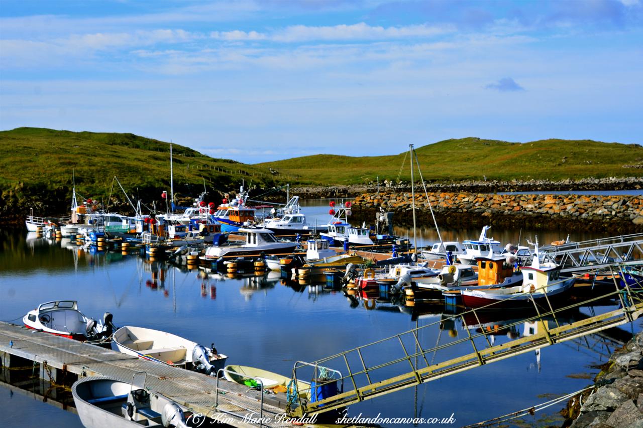 Boats at Hamnavoe Marina, Burra Isle (2)