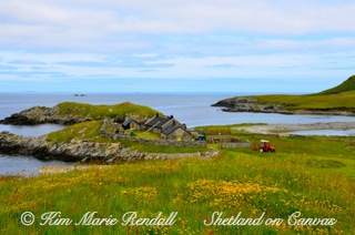 Beautiful Shetland Scene at Lingness