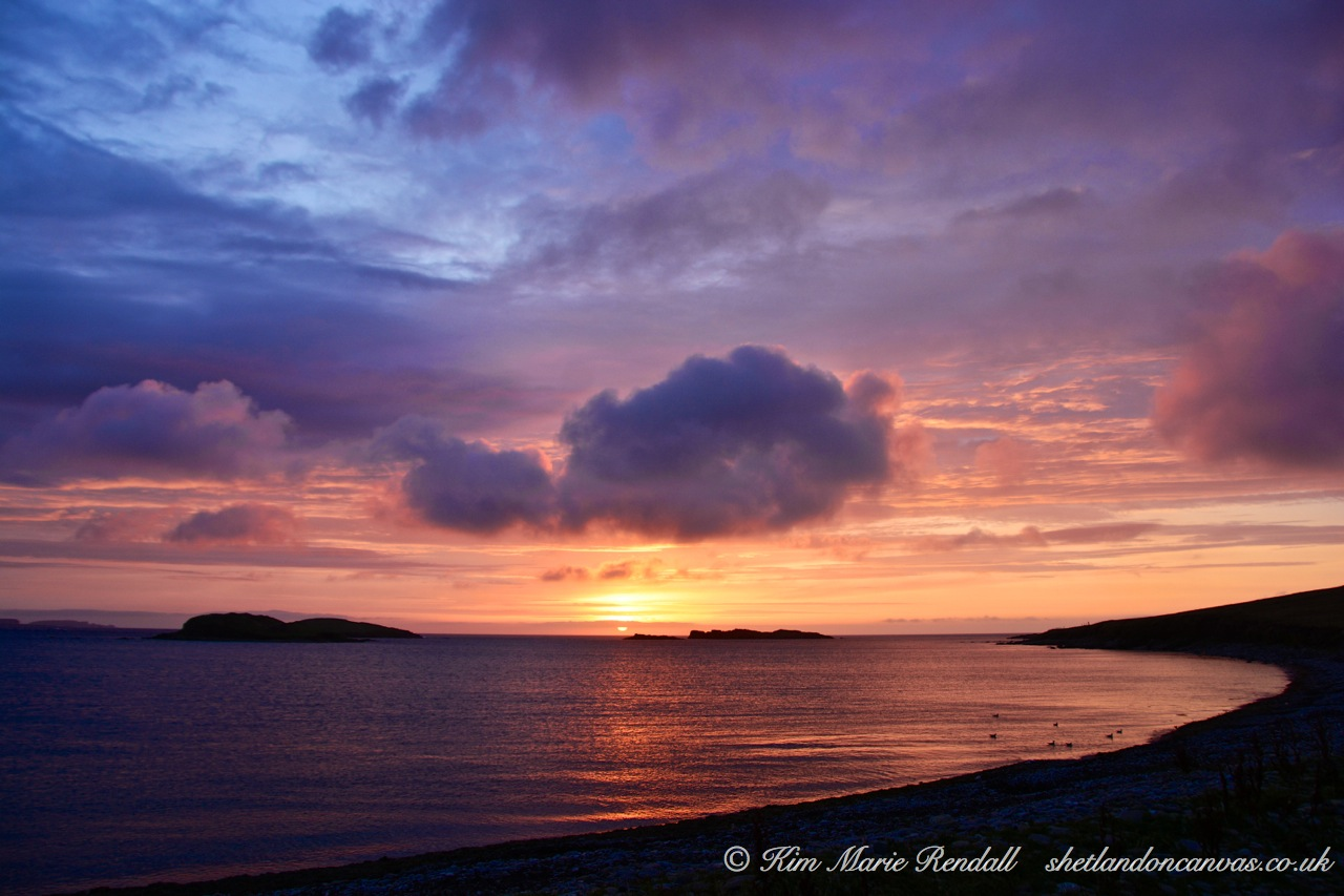 Sunset over Westing Holms, Unst (4)
