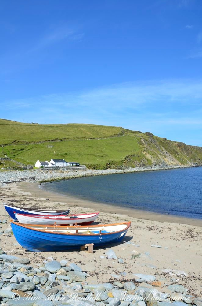 Boats at Norwick Beach, Unst