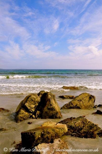 Idyllic Beach Scene at Sandwick Beach, Unst.