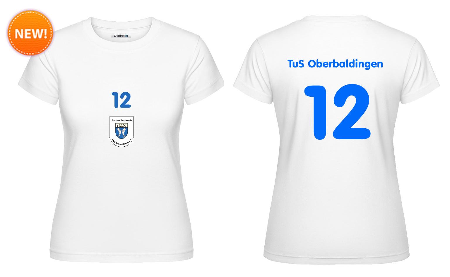 """Fan-Shirt """"Zwölfte Frau"""" (weiß) - 25 EUR"""