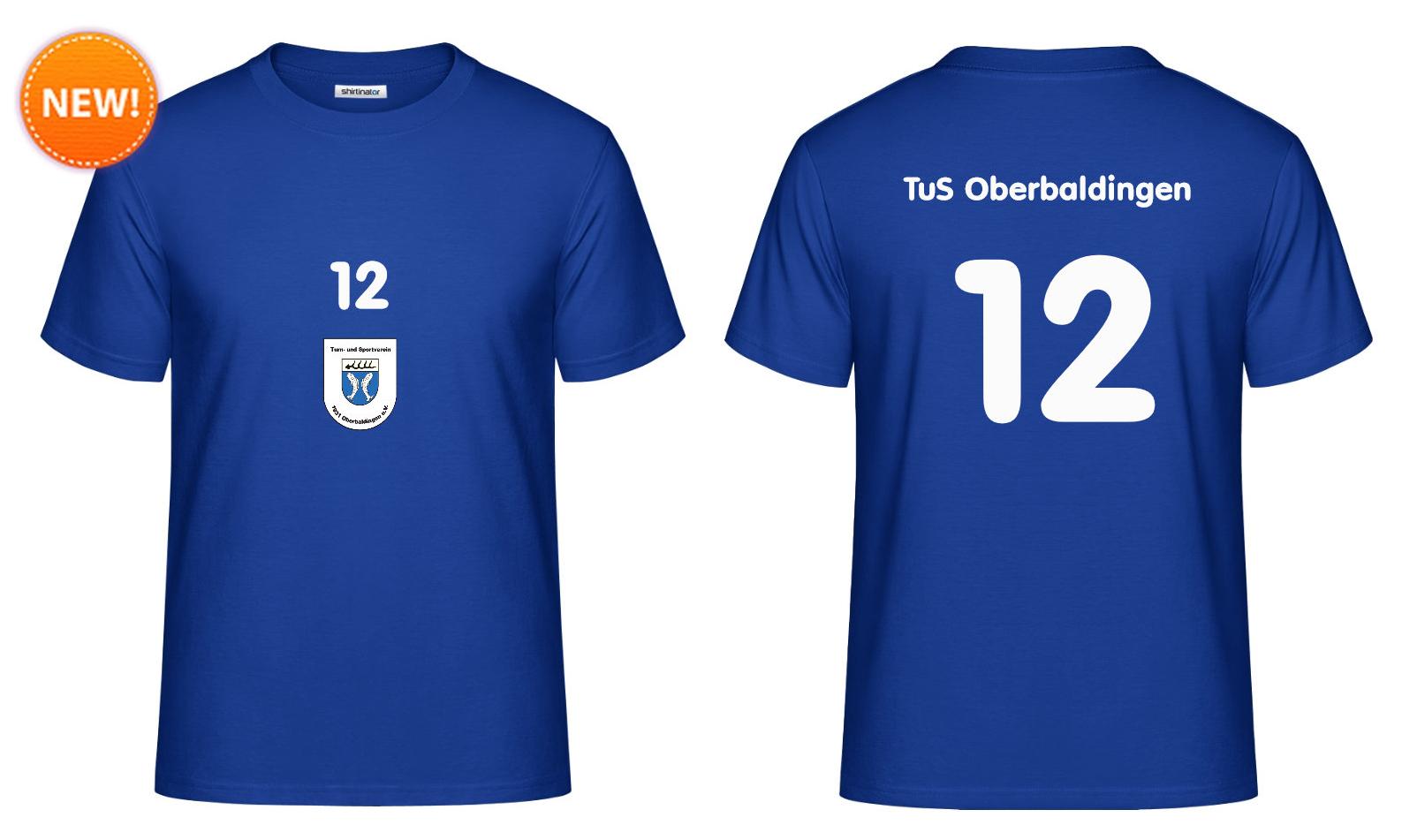 """Fan-Shirt """"Zwöfter Mann"""" (blau) - 25 EUR"""