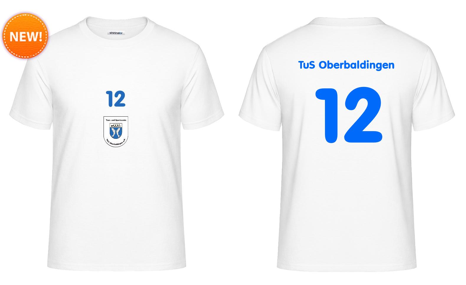 """Fan-Shirt """"Zwölfter Mann"""" (weiß) - 25 EUR"""