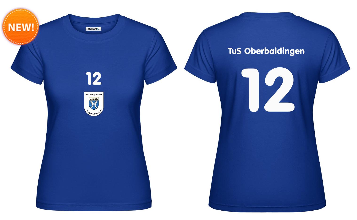 """Fan-Shirt """"Zwölfte Frau"""" (blau) - 25 EUR"""