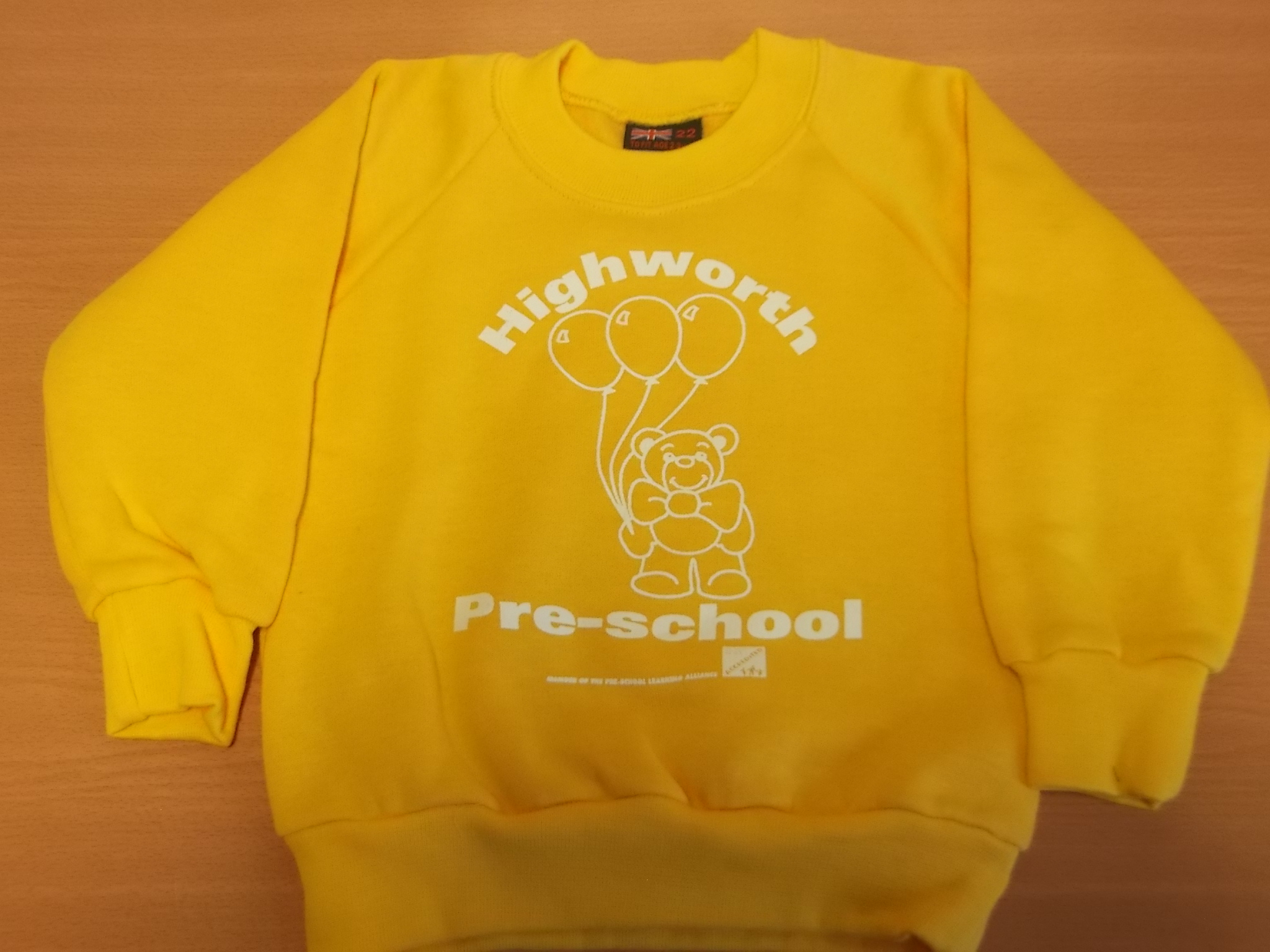 Yellow Highworth Pre-School Jumper