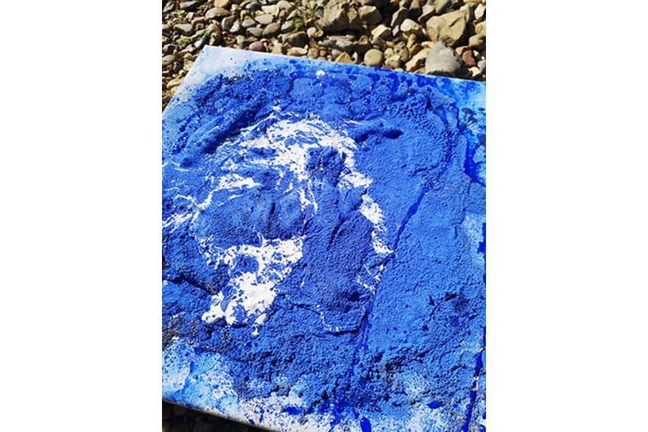 MA experimental paint piece 2 colour