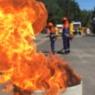 brennende Fässer