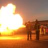 PKW Explosion und Brand