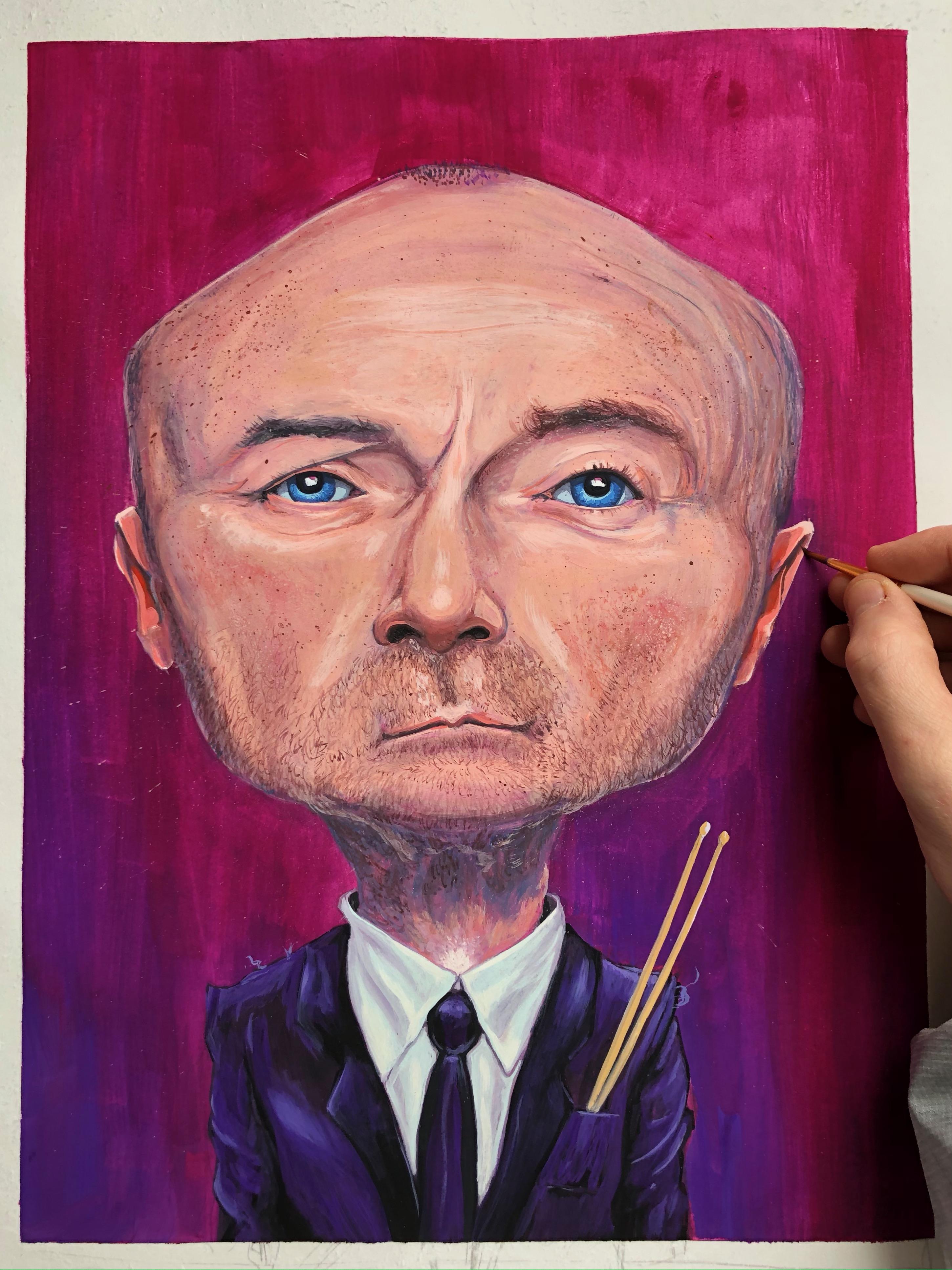 Phil Collins Caricature 2021