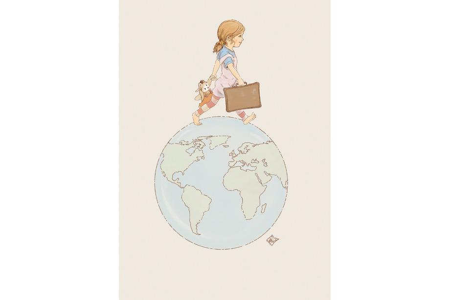 Illustration Geburtskarte - Marie