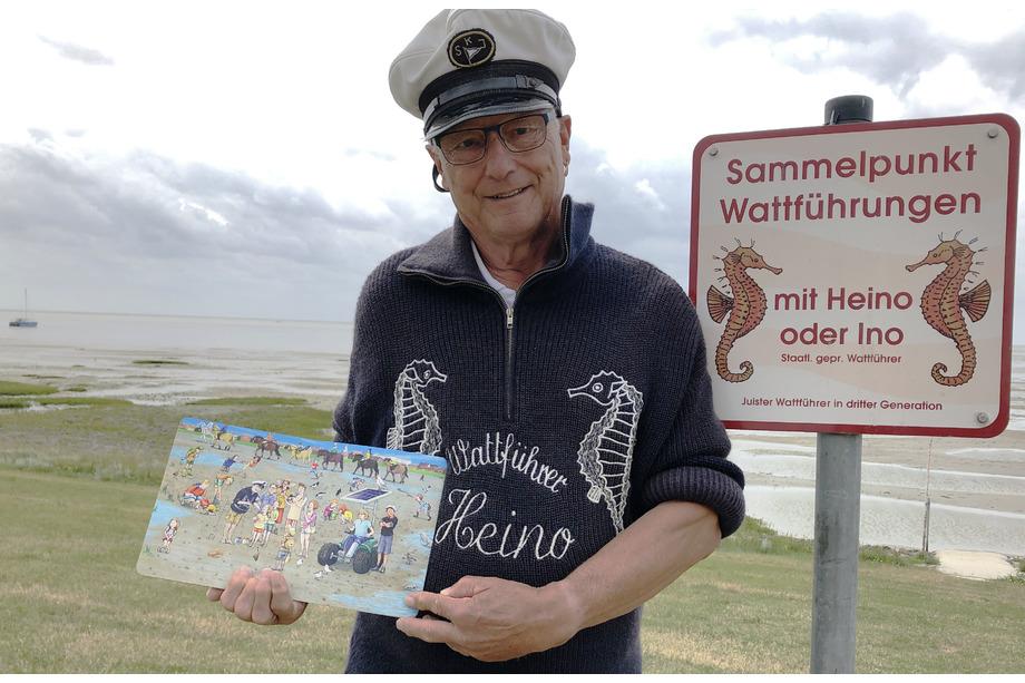 Juist-Wimmelbuch Wattführer Heino präsentiert