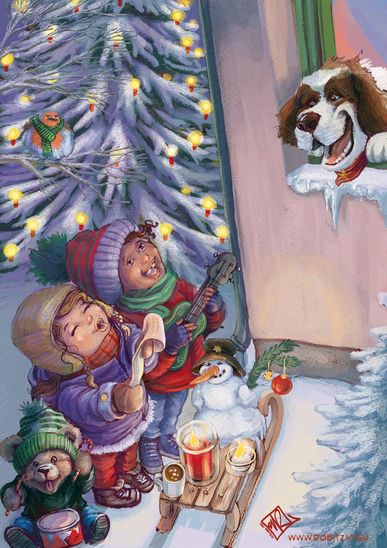 Weihnachtskarte AHA-L Du Fröhliche!