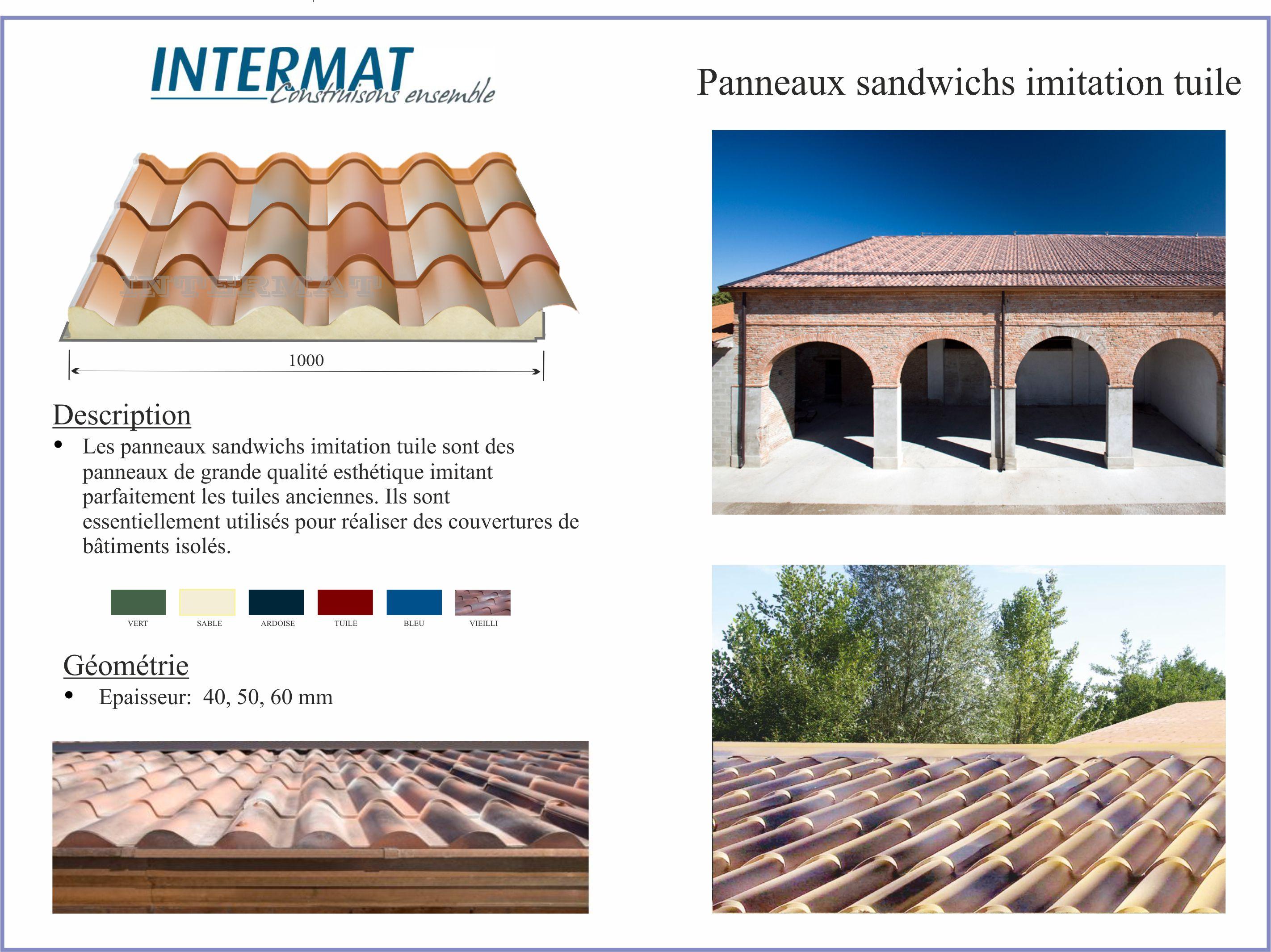 couverture toiture panneaux tuile