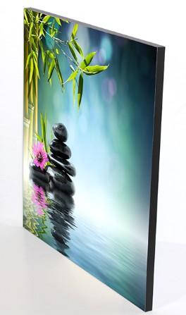 Stampa fine art 60x60 montata su pannello leggero 1 cm.