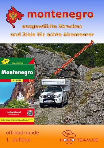 Montenegro offroad-guide mit Landkarte