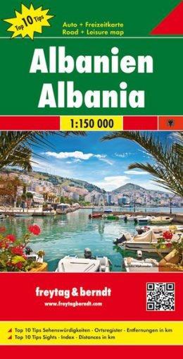 Albanien Landkarte 1:150 000