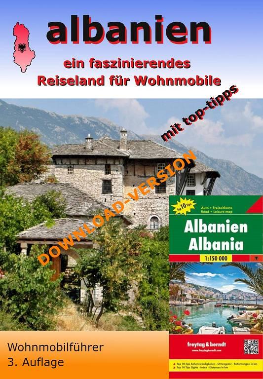 Albanien Wohnmobilführer - PDF-Downloadversion mit Karte