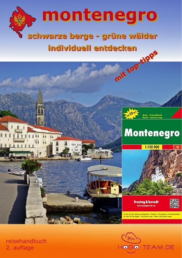 Montenegro Reisehandbuch mit Landkarte