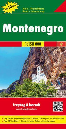 Montenegro Landkarte 1:150 000 einzeln