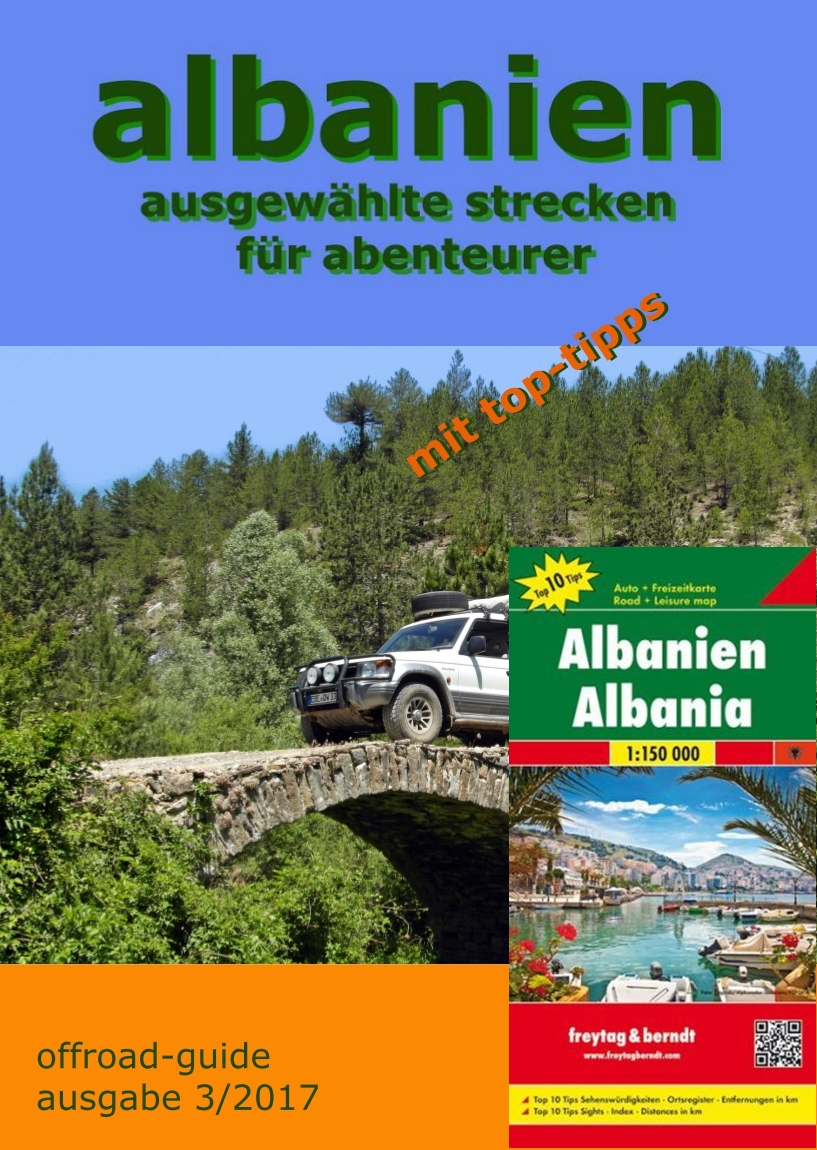 "Albanien ""offroad-guide"" mit Landkarte"