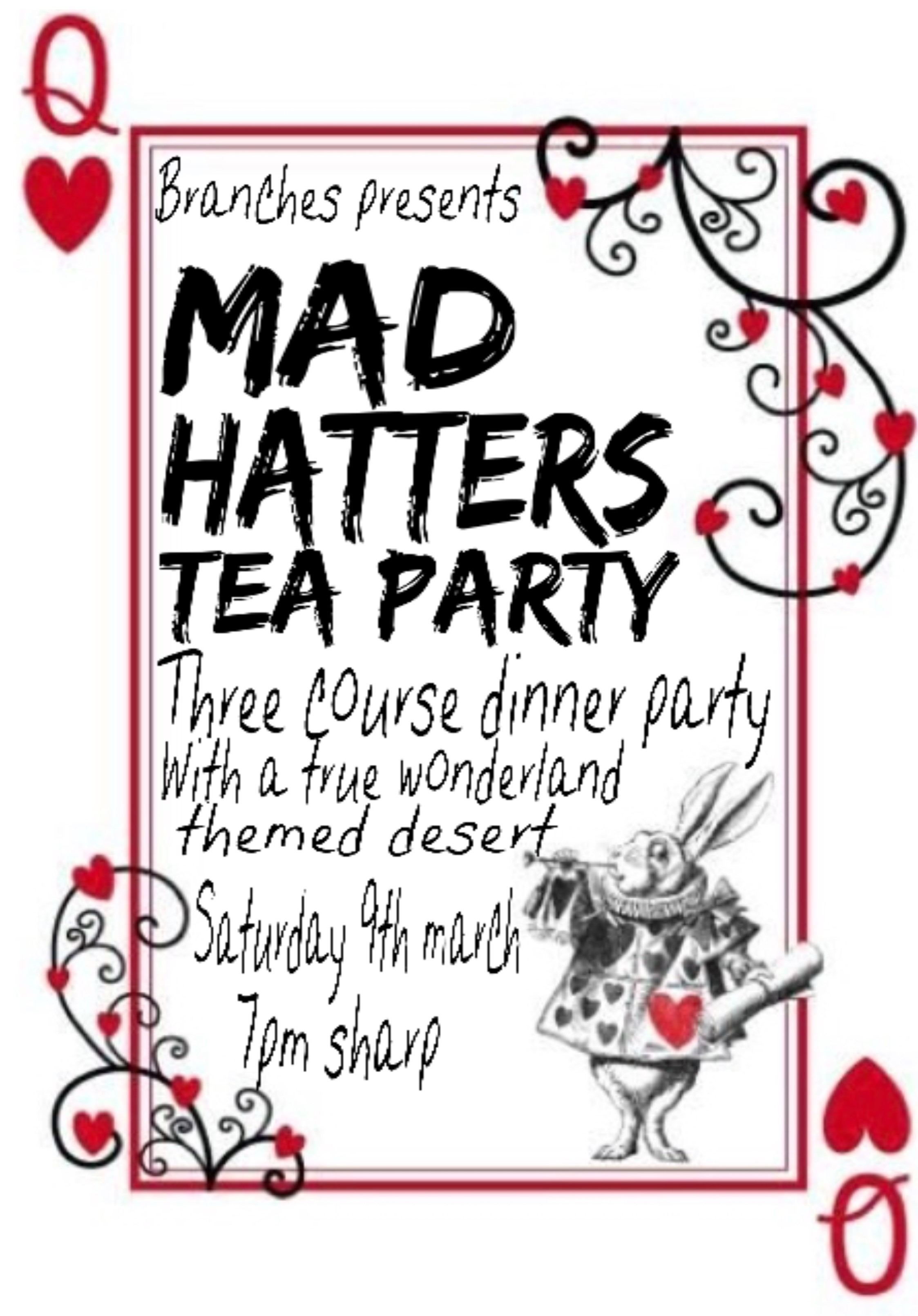 Mad Hatter's Tea Party Ticket