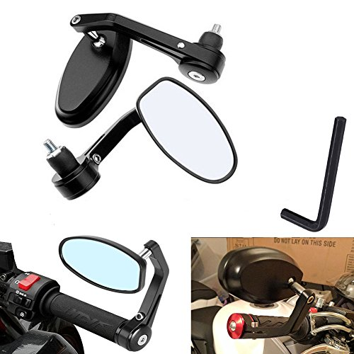 MotoHart bar end mirrors  - Black
