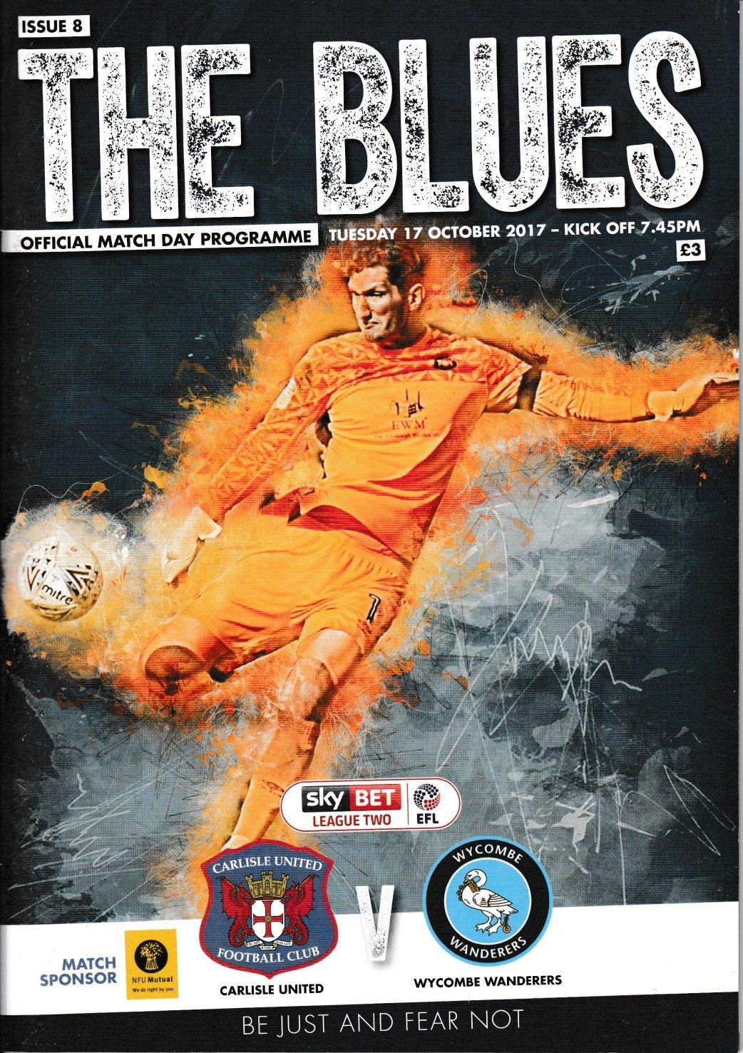 Carlisle United V Wycombe Wanderers