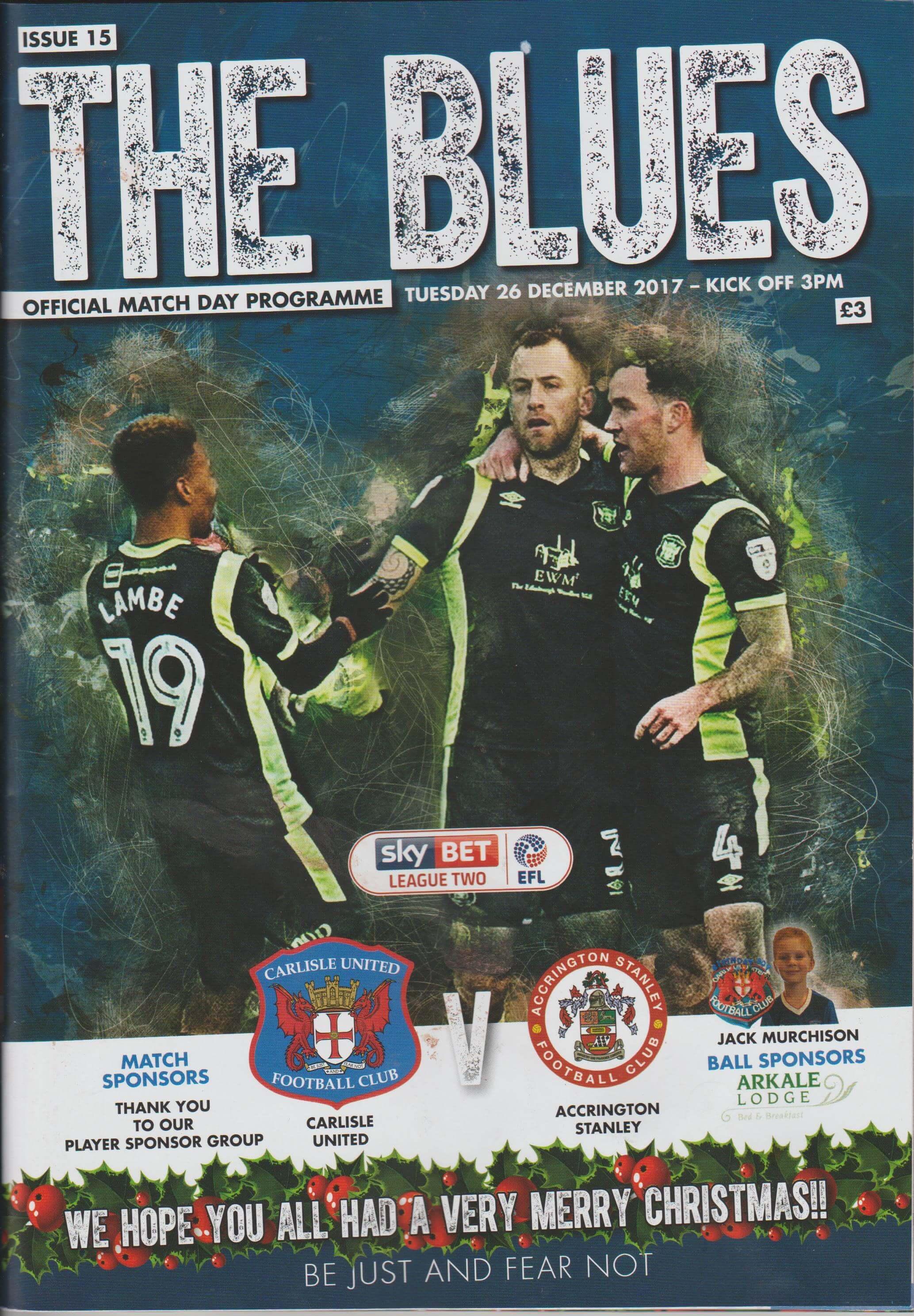 Carlisle United V Accrington Stanley