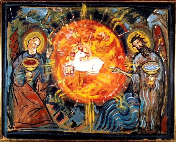 L'Agneau entouré de St Jean et St Jean Baptiste
