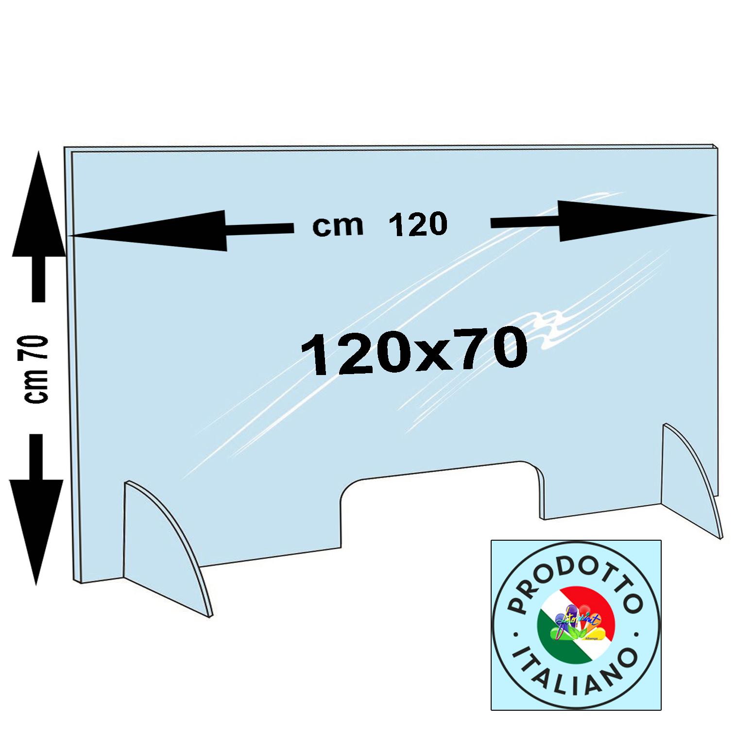 BARRIERA PERSONALIZZATA 120X70-Spessori disponibili: 3mm €.138,00 e 5mm €.158,00 - SPED.OMAGGIO