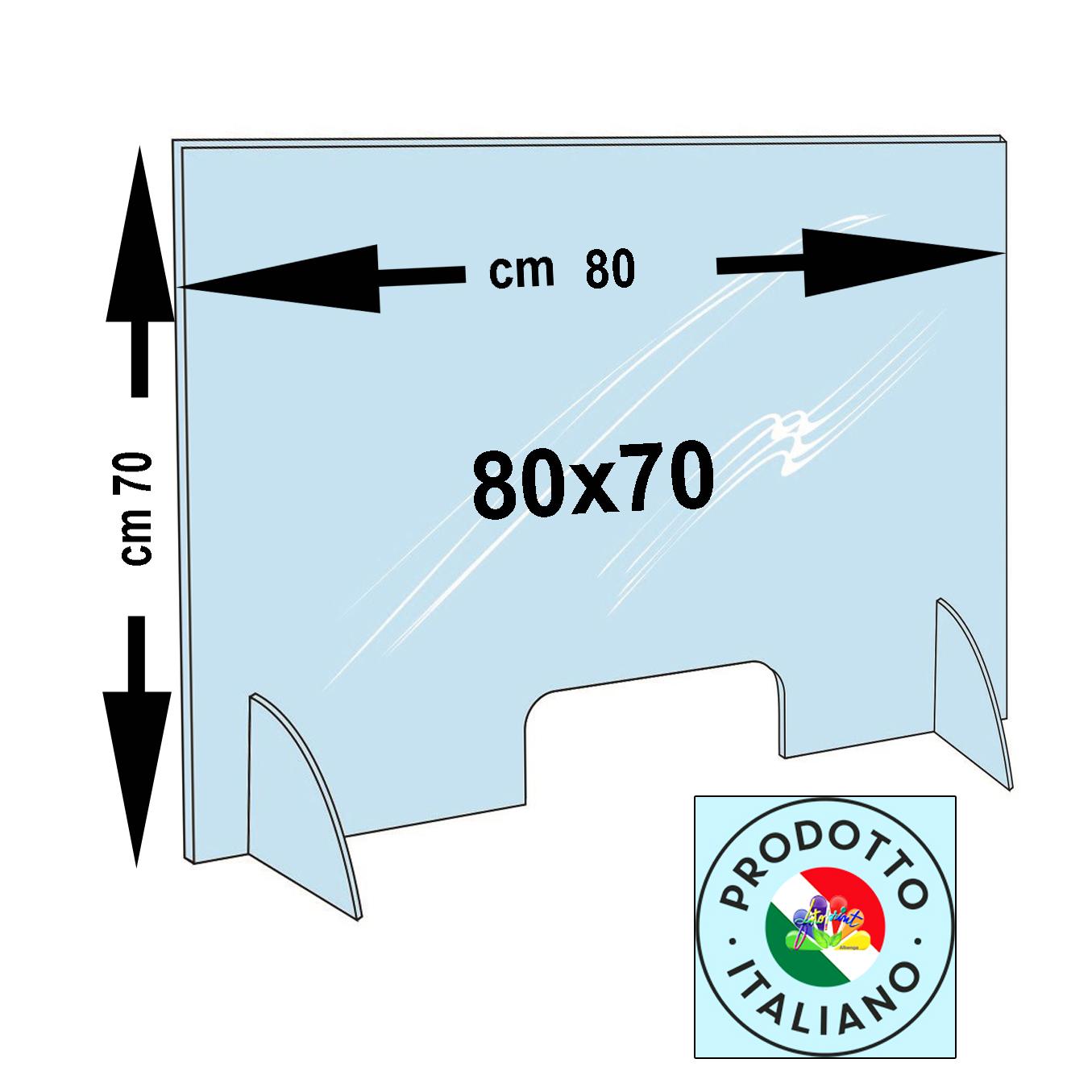 BARRIERA PERSONALIZZATA 80X70 - Spessori disponibili: 3mm €. 79,00 e 5mm €. 98,00 - SPED.OMAGGIO