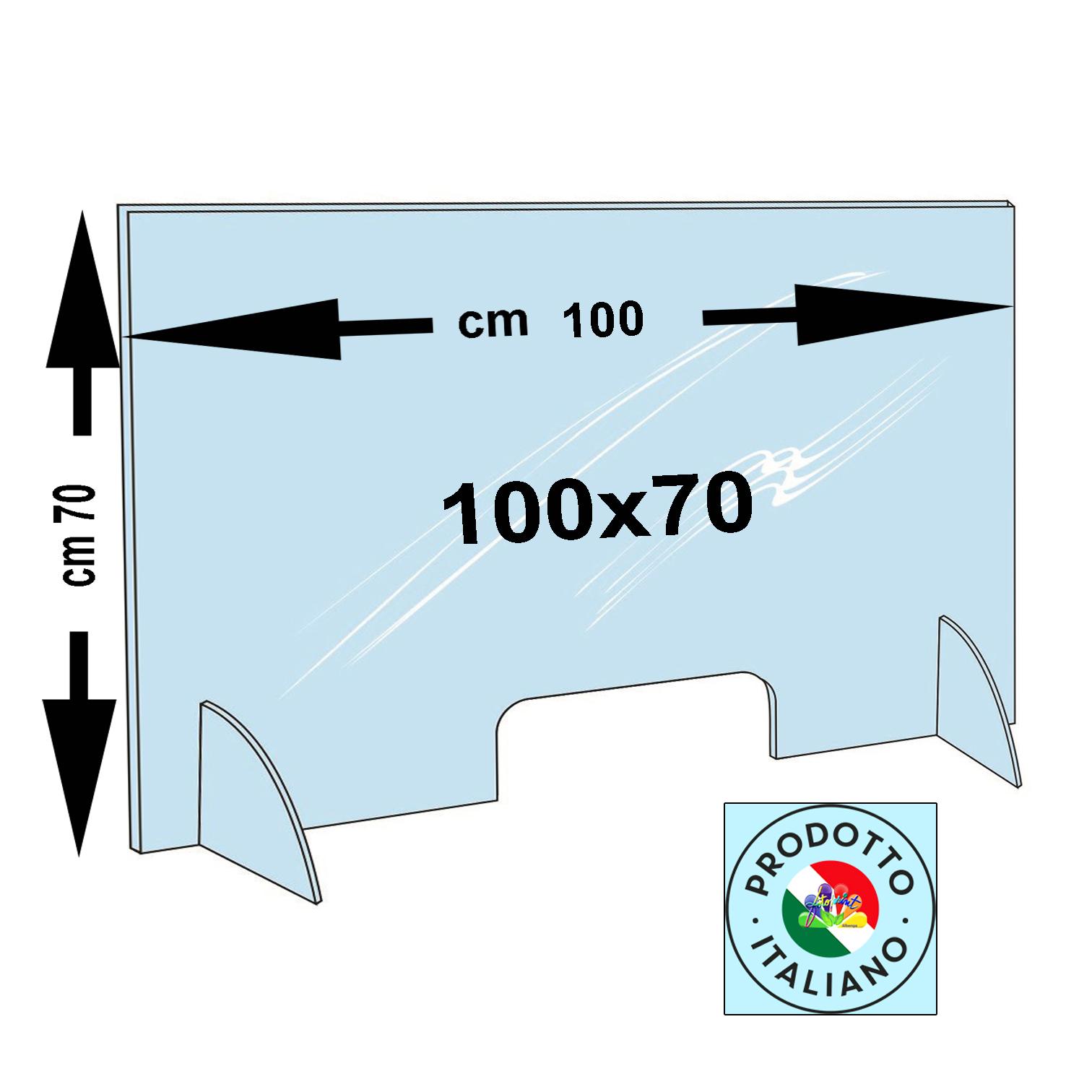 BARRIERA PERSONALIZZATA 100X70 - Spessori disponibili: 3mm €.116,00 e 5mm €.136,00  - SPED.OMAGGIO