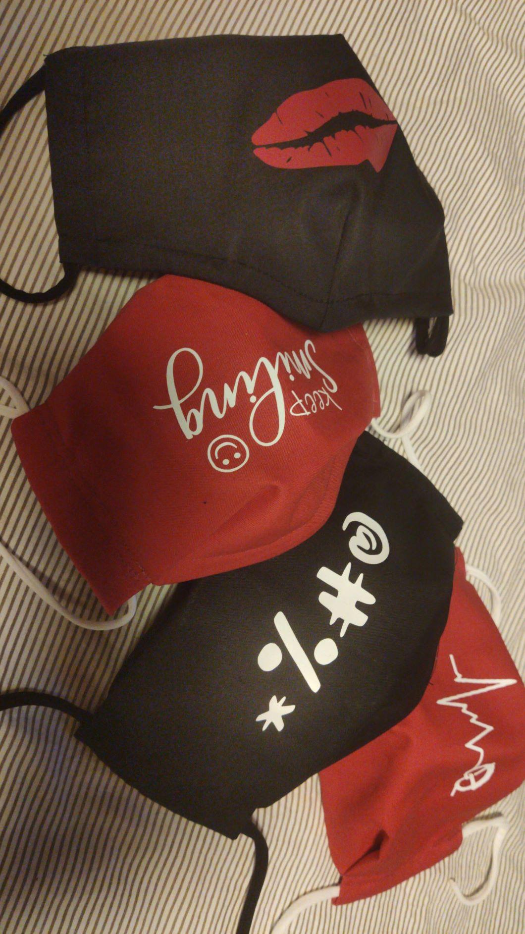 Alltagsmaske (Korb) mit Wunschplott