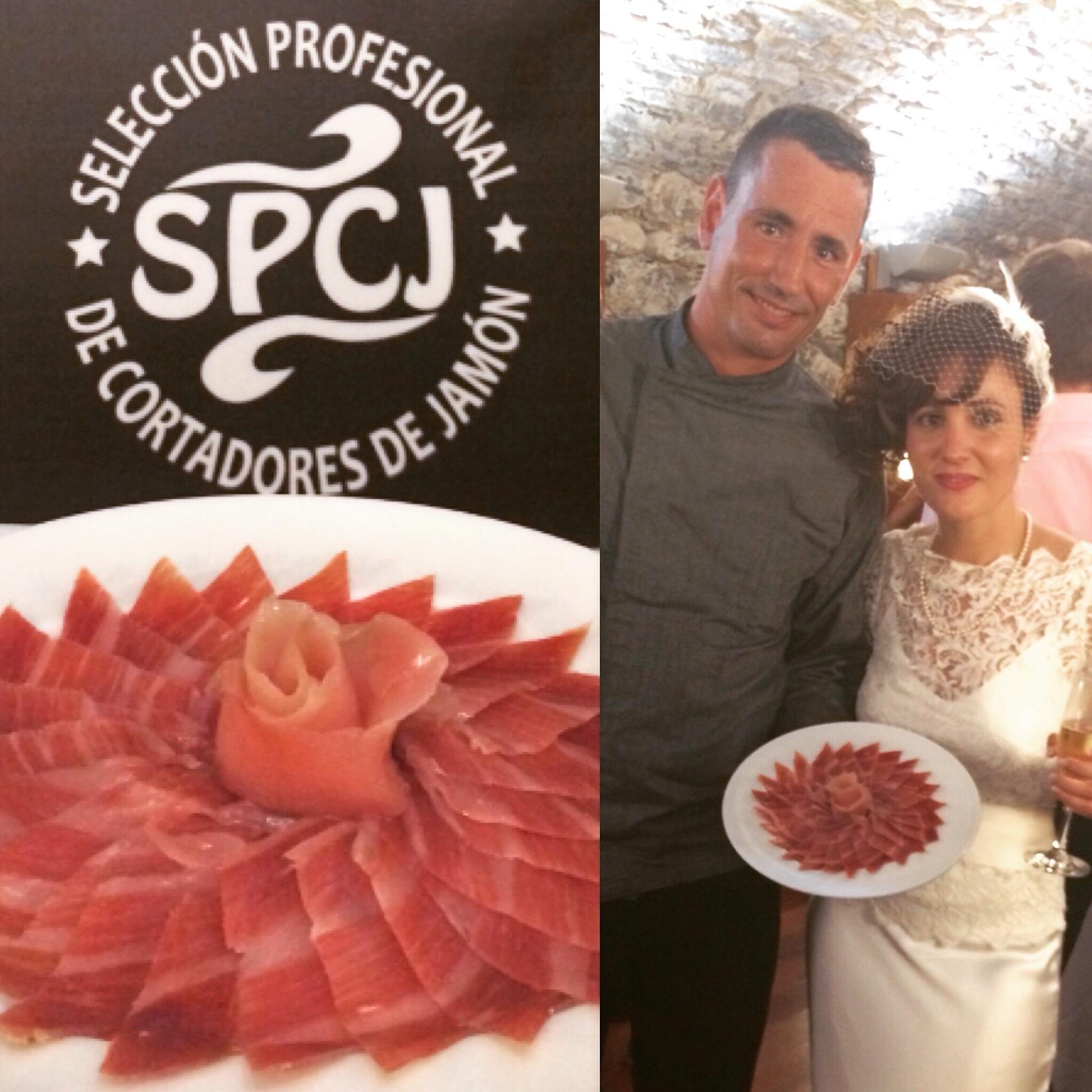 Comer jamón en las bodas