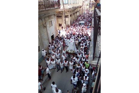 Procesión en La Habana