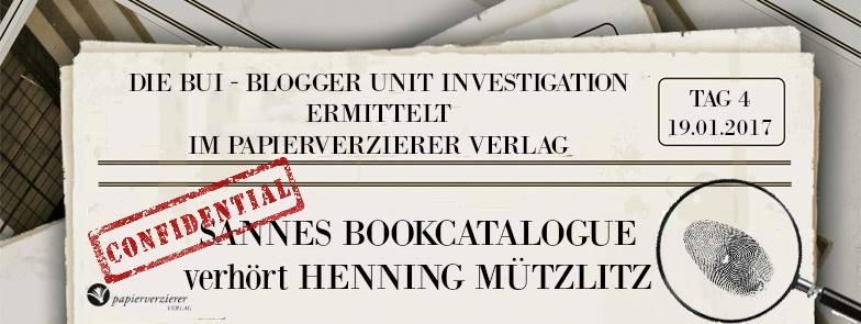 Sannes Bookcatalogue verhört Henning Mützlitz